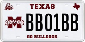Texas MSU Car Tag
