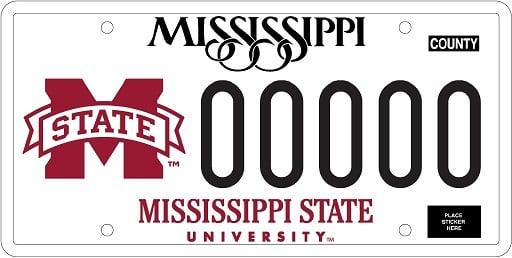 Mississippi State University Development and Alumni - MSU Car Tag