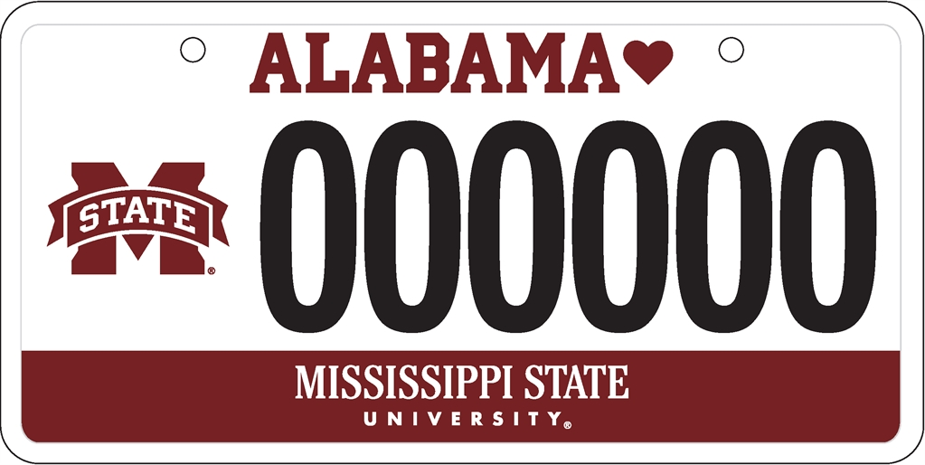 Alabama Car Tags >> Mississippi State University Development And Alumni